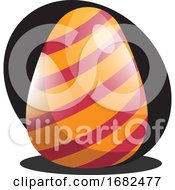 Orange Easter Egg With Red Lines Illustration Web by Morphart Creations