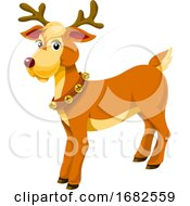 Christmas Reindeer Illustration