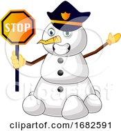 Police Snowman