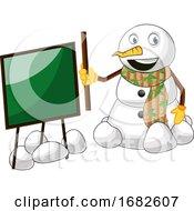 Snowman With Blackboard