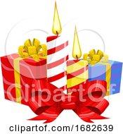 Christmas Candles Illustration