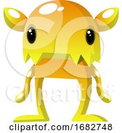 Yellow Monster With Small Eyes Illustration