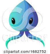 Blue Meduza Monster Illustration