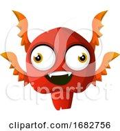 Red Smiling Monster Illustration