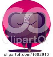 Purple Cartoon TV Monster Illustartion