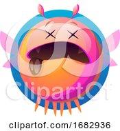 Cartoon Pink Monster Illustartion