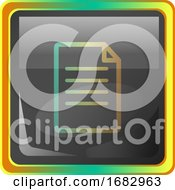 Notes Grey Square Icon Illustration With Yellow And Green Details On White Background