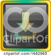 Download Grey Square Icon Illustration With Yellow And Green Details On White Background