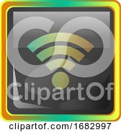Wi Fi Grey Icon Illustration With Colorful Details On White Background