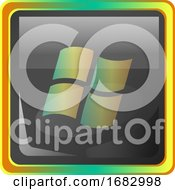 Window Grey Icon Illustration With Colorful Details On White Background