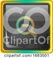 ZoomOut Grey Icon Illustration With Colorful Details On White Background