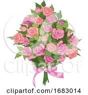 Poster, Art Print Of Pink Rose Bouquet