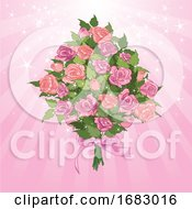 Poster, Art Print Of Sparkly Rose Bouquet
