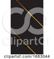 Business Card With An Elegant Gold And Black Design