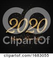 Glitter Happy New Year Design