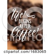 Coffee Quote On Defocussed Background