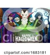 Poster, Art Print Of Halloween Greeting