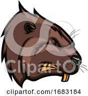 Tough Beaver Mascot by Vector Tradition SM