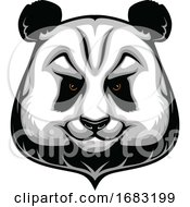 Poster, Art Print Of Tough Panda Mascot
