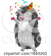 Cute Party Hedgehog