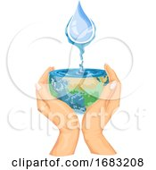 Poster, Art Print Of Save Water Concept