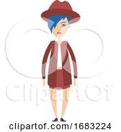 Girl In Skirt Illustration
