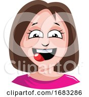 Woman Is Craving Some Delicious Food Illustration
