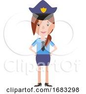 A Policewoman In Uniform Illustration