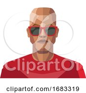 Bald Guy Wearing Sunglasses Illustration