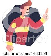 Cartoon Man In Red Uniform