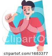 Cartoon Guy In Red Shirt