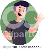 Poster, Art Print Of Cartoon Cute Man