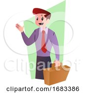 Cartoon Happy Businessman