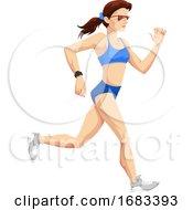 Poster, Art Print Of Woman Running