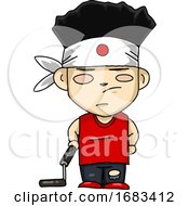Japanese Boy With Nunchuck