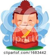 Buddha Wishes You Happy Chinese New Year
