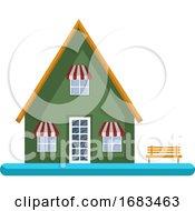 Cartoon Green Building