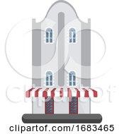 Cartoon White Building