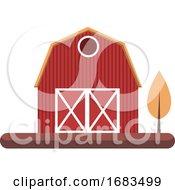 Simple Cartoon Red Building