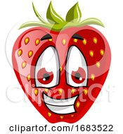Happy Strawberry Face by Morphart Creations