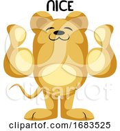 Yellow Mouse Showing Thumbs Up