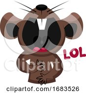 Brown Mouse Laughing Out Loud