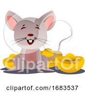 Poster, Art Print Of Cartoon Chinese Mouse