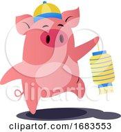 Cartoon Chinese Pig