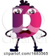 Purple Letter D