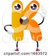 Orange Letter K