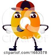 Orange Letter Q With Hat
