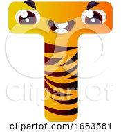 Orange Letter T