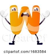 Orange Letter W