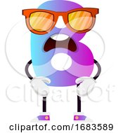 Purple Letter B With Sunglasses
